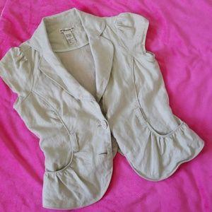 Cute waistcoat 100%linen